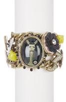 Betsey Johnson Wonderland Charm Toggle Bracelet