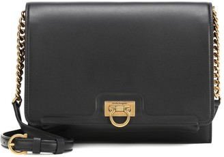 Salvatore Ferragamo Gancio Square leather shoulder bag