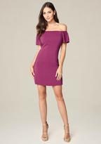Bebe Off Shoulder A-Line Dress