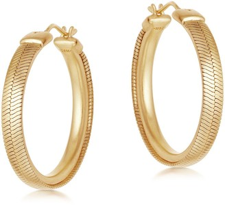 Missoma Lucy Williams Gold Snake Chain Hoop Earrings