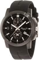 Kenneth Cole New York Men's KC1844 Dress Sport Triple Black Chronograph Silver Details Watch