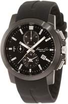 Kenneth Cole New York Men's KC1844 Dress Sport Triple Chronograph Silver Details Watch