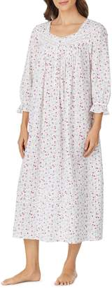 Eileen West Lace-Trimmed Cotton Nightgown