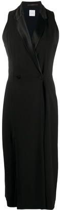Paul Smith Sleeveless Tuxedo Midi Dress