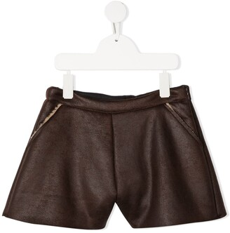 Douuod Kids Leather Look Shorts