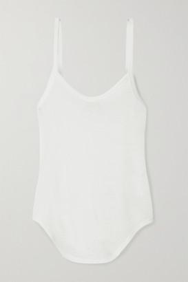 FRANCES DE LOURDES Keaton Cashmere And Silk-blend Tank - White