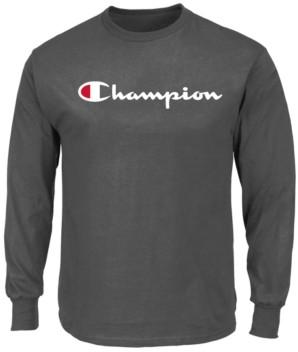 Champion Men's Script-Logo Long-Sleeve T-Shirt