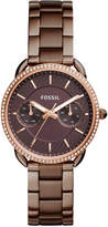 Fossil Women's Tailor Brown Stainless Steel Bracelet Watch 35mm
