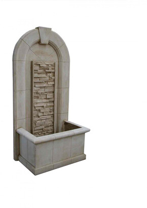 Toppco Sandstone Wall Fountain With Rock Cascade Panel