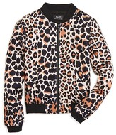 Bardot Junior Girls' Leopard Print Bomber Jacket - Sizes 8-16