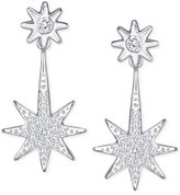 Swarovski Silver-Tone Pavé Star Earring Jackets Earrings