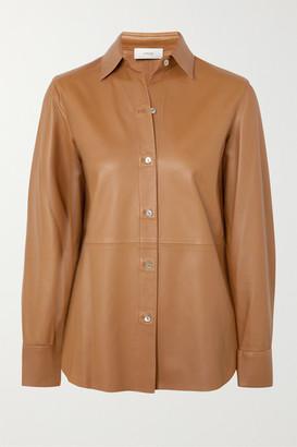 Vince Leather Shirt - Camel