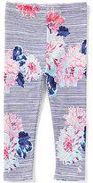 Joules Baby/Little Girls 12 Months-3T DeeDee Floral Stripe Printed Leggings