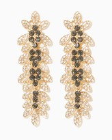 Charming charlie Sparkling Leaf Statement Earrings