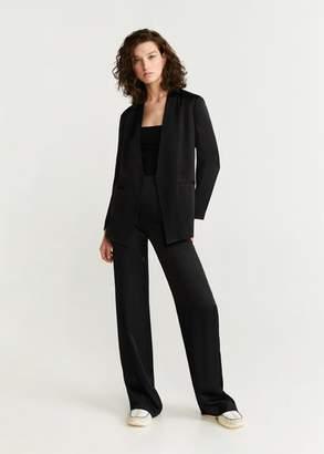 MANGO Unstructured suit blazer black - 2 - Women