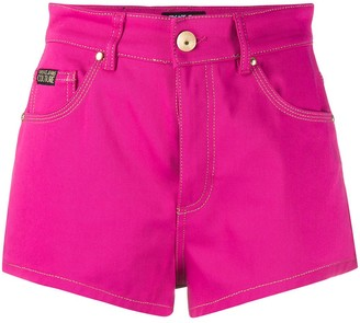 Versace high rise jeans shorts