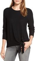 Gibson Women's Tie Front Cozy Fleece Pullover