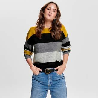 Jacqueline De Yong Striped Jumper with Round Neck