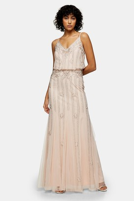 Lace & Beads Womens **Keeva Maxi Dress By Nude