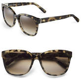 Bobbi Brown 56mm Gretta Two-Tone Square Sunglasses