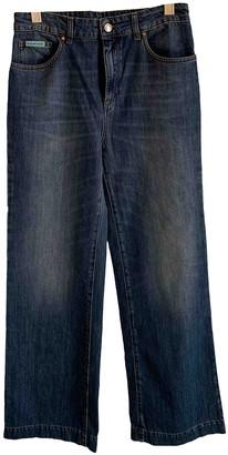 ALEXACHUNG Alexa Chung Blue Cotton Jeans