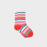Paul Smith Baby Girls' Multi-Colour Stripe 'Nouria' Socks