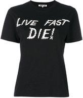 McQ by Alexander McQueen Live Fast Die print T-shirt - women - Cotton - XS