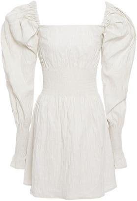 Anna Quan Everly Shirred Crinkled Stretch-jacquard Mini Dress