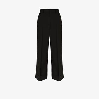 Dries Van Noten Poiretti wide leg cropped trousers
