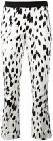 Twin-Set brush print cropped trousers - women - Cotton/Spandex/Elastane - 44