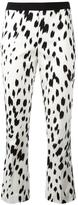 Twin-Set brush print cropped trousers