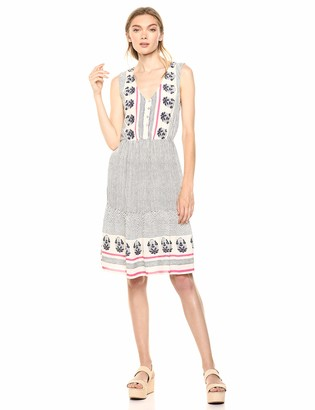 Lucky Brand Women's Luna Border Print Dress