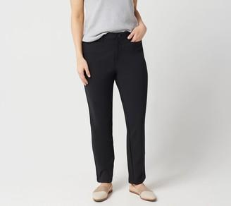 Denim & Co. Regular Double Weave Straight Leg Ankle Pant
