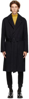 Solid Homme Navy Wrap Coat