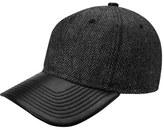 Gents Men's Jose Herringbone Baseball Cap - Grey