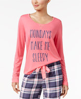 Jenni by Jennifer Moore Graphic-Print Pajama Top, Only at Macy's