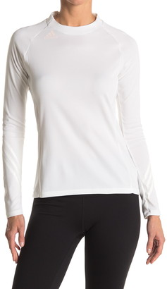 adidas Mock Neck Long Sleeve Top