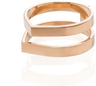Repossi 18kt rose gold Antifer double ring