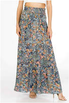 Olivaceous Floral Maxi Skirt
