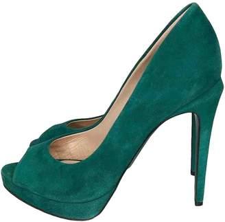 Fendi \N Green Suede Heels
