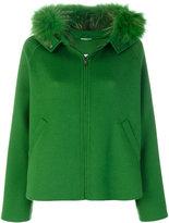 P.A.R.O.S.H. fur trim hooded coat