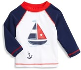 Little Me Infant Boy's Sailboat Long Sleeve Rashguard