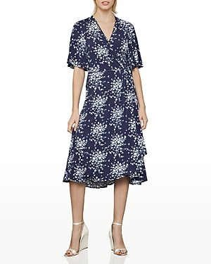 BCBGMAXAZRIA Floral Print Wrap Dress