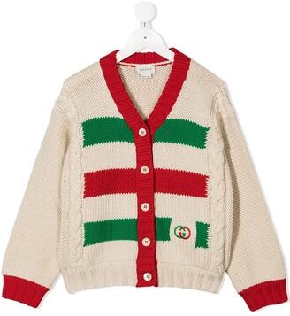 Gucci Kids Stripe-Detail Cardigan