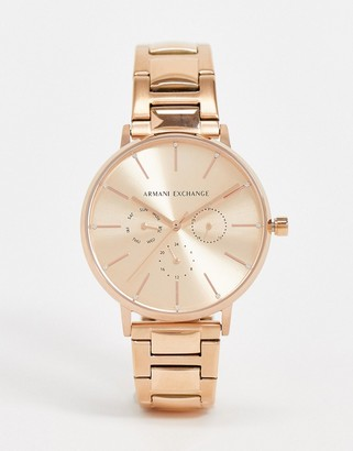 Armani Exchange AX5552 watch in rose gold