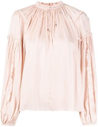 Ulla Johnson Maeve ruffle-trimmed long-sleeved blouse