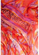 Matthew Williamson Red-Multi Snake Print Scarf