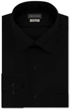 Van Heusen Men's Classic/Regular Fit Stretch Wrinkle Free Sateen Dress Shirt