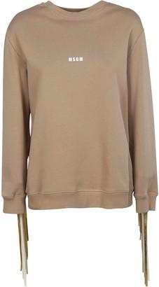 MSGM Fringed Detail Sweatshirt
