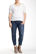 Melissa McCarthy Straight Leg Roll-Up Jeans (Plus Size)